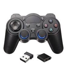 2.4 GHz Wireless Game Controller Gamepad Joystick Para Android Caja de la TV Con Receptor USB