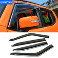 4pcs/lot Car Awning Shelter Window Visor For Jeep Grand Cherokee Renegade Cherokee 2010-2017 Sun Rain Shield Cover