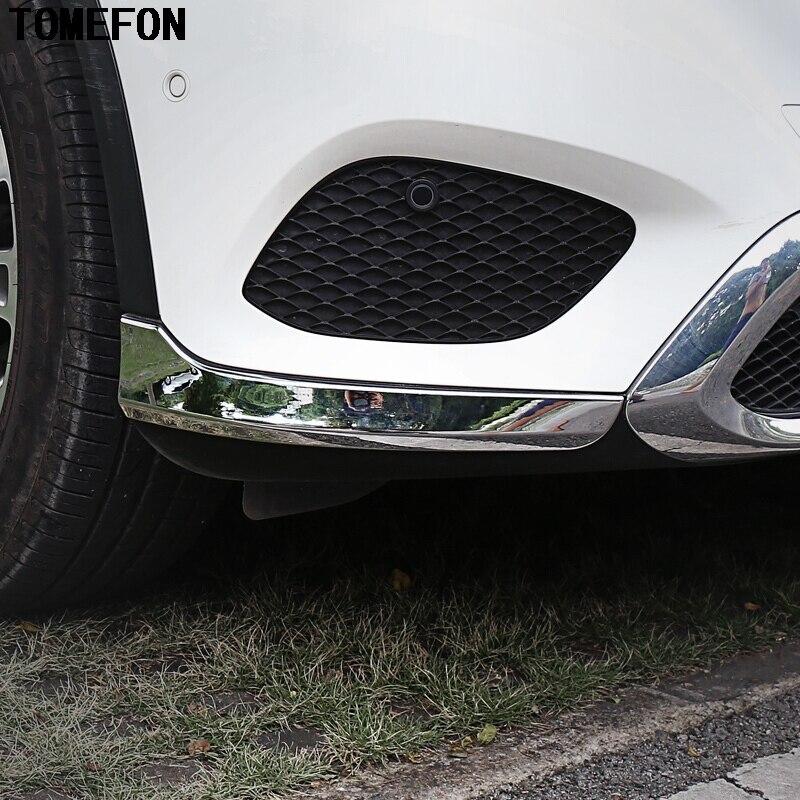 TOMEFON 2 pièces pour Mercedes Benz GLC X205 2015 2016 ABS couverture de moulage d'angle de pare-chocs avant