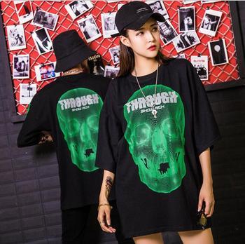 2020 New Solid color T Shirt Mens Black  100% Hip hop Men's brand cotton T-shirts Summer Skateboard Tee Boy Skate Tshirt Tops