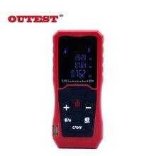 Sale OUTEST Laser Distance Meter 40M 60M 80M 100M Laser Rangefinder Laser Tape Range Finder trena ruler Diastimeter Measure Roulette