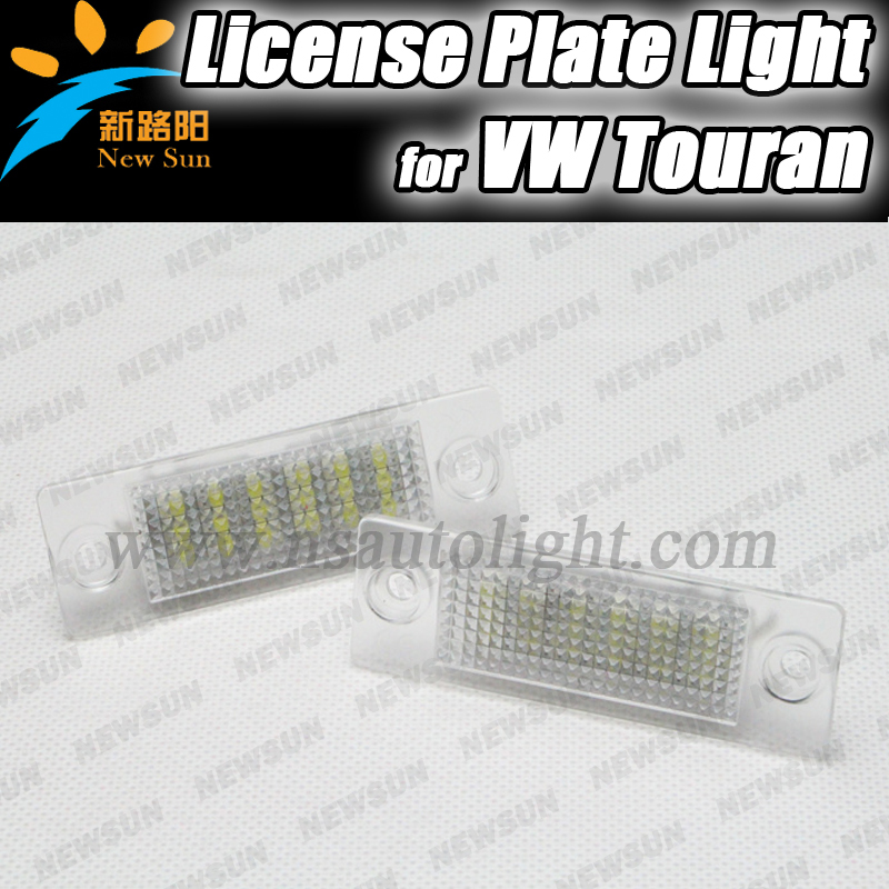 Free shipping 2x No Error LED License Plate Lights For VW Touran,Gaddy,Jetta,Golf Plus,Passat B5 Cimousint car number light lamp  qook 2piece car error free led license number plate light lamp for porsche vw golf polo passat seat number plate lamp