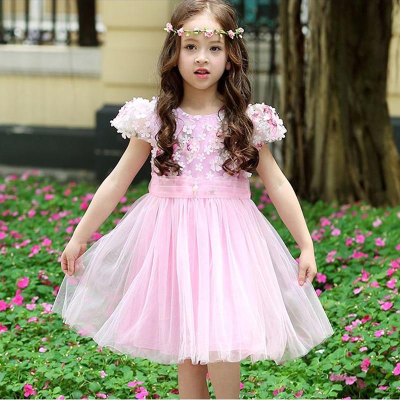 Tjejklänning baby tjej prinsessa chiffong klänning ärmlös - Barnkläder