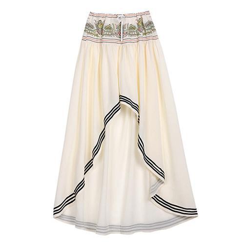 Women Fashion Hippy Bohemian Style Beach Irregular Evening Party Long Skirt
