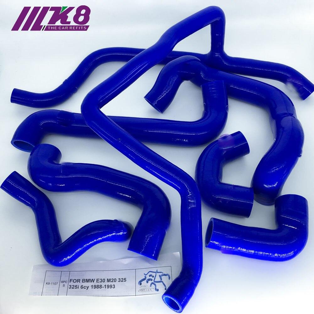 BLUE HPS SILICONE RADIATOR HOSE KIT W// CLAMPS 88-91 BMW E30 M3