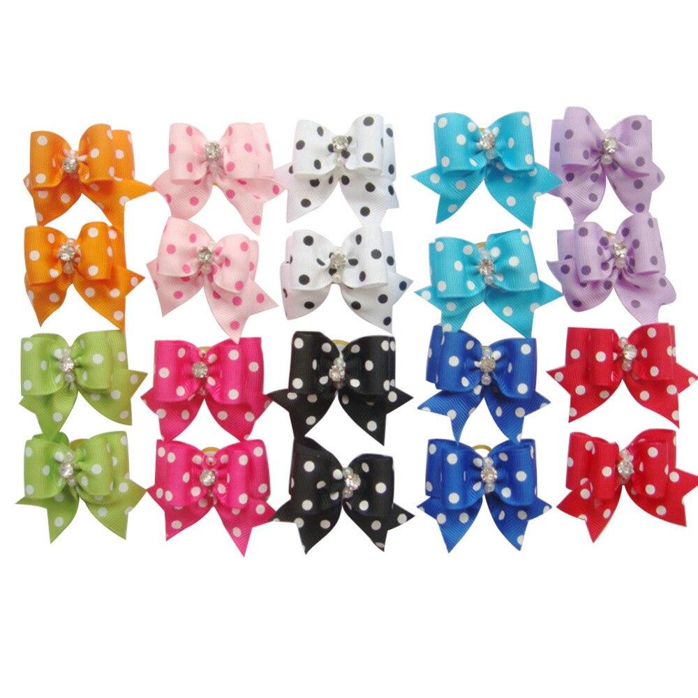 Ha hair bow ribbon wholesale - Dog Cat Puppy Hair Bow Ribbon Wholesale Lots Headdress Flower Pets Gift Newest 2016 China