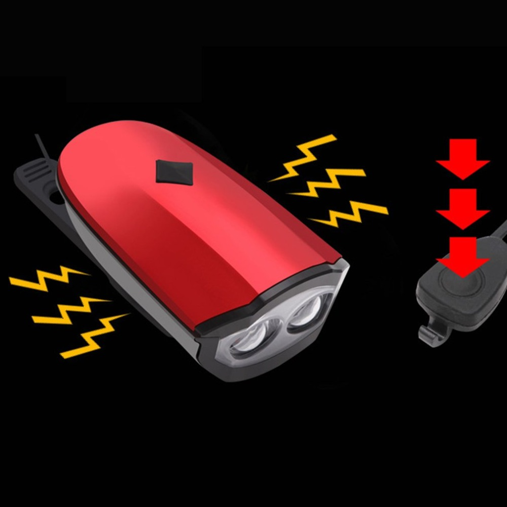 Flash Deal 2018 New Universal USB Rechargeable Bike Light Loud Sound Bicycle Bell Light Waterproof Super Bright LED Lamp Front Headlights 3
