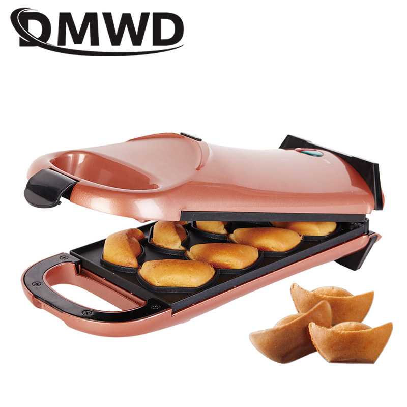 DMWD Electric Multifunctional Cartoon Waffle Cake Maker Automatic Non-stick Muffin Pancake Baking Machine Crepe Cooker Breakfast