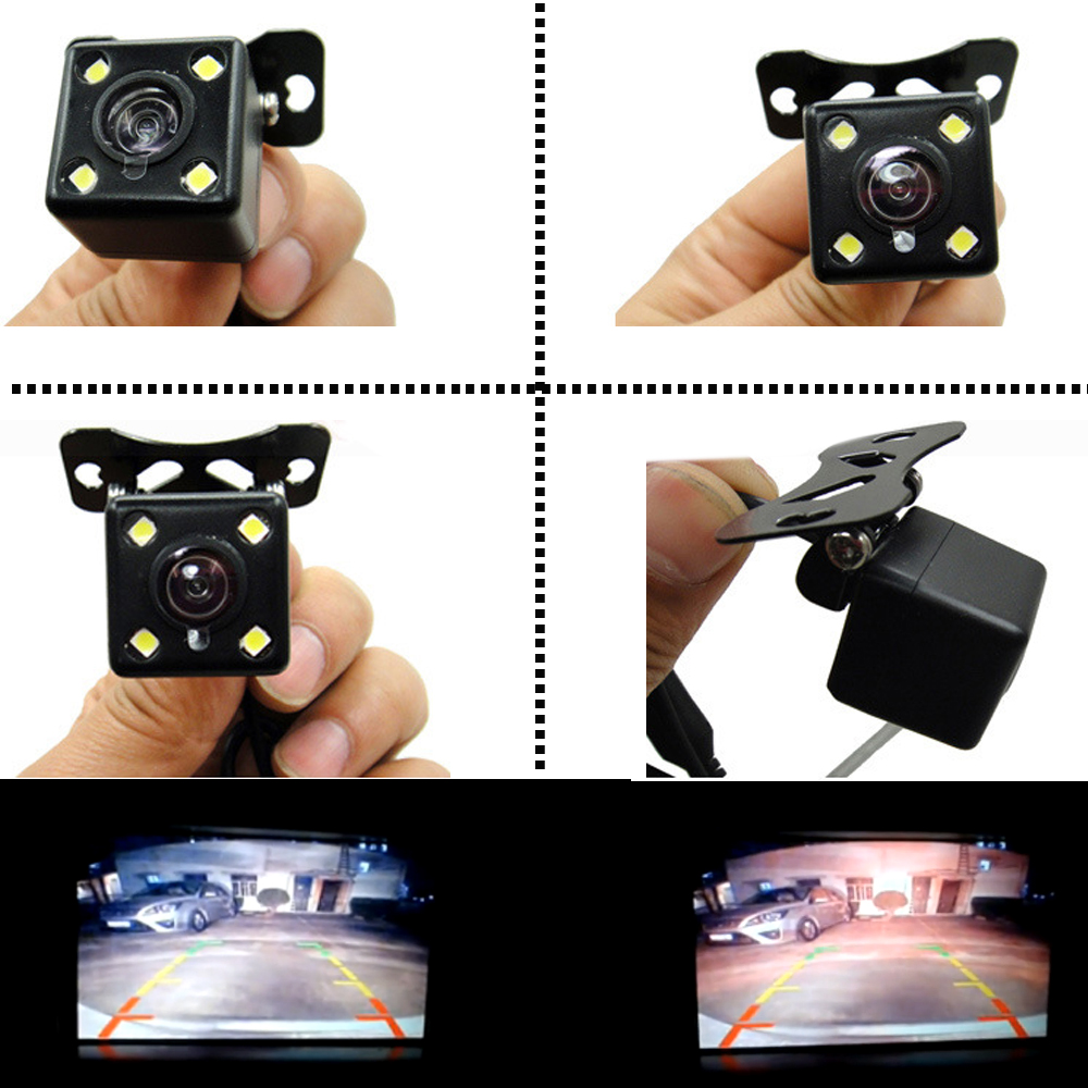 Parking Assistances Car Rearview Reverse Revering Rear View Camera CCD+LED Backup With Wide Degree De Re Para Auto Night Vision