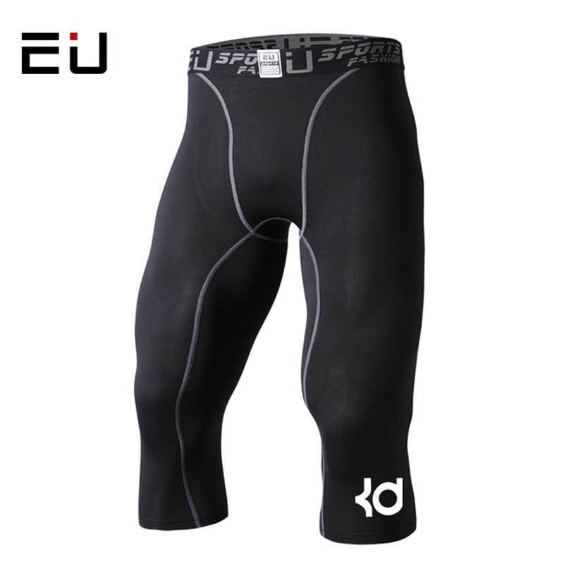 Heren compressie panty 3/4 korte broek sport strakke zwarte fitness Running basketbal korte joggingbroek Slim fit hardloopshort