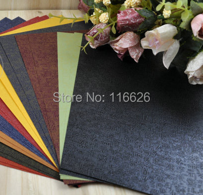 60sheets Lot Chinese Family Names Pattern Embossing Colorful Diy