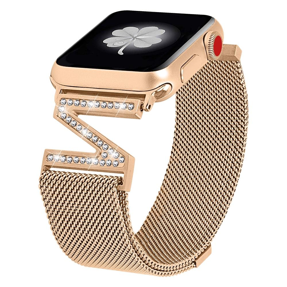 Apple Watch Femme Bracelet Milanais et Cristaux