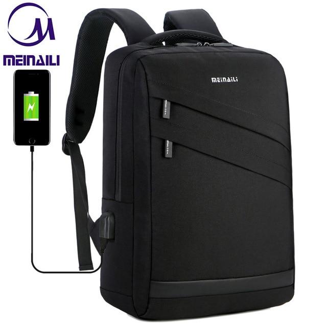 Business Laptop Backpack 14 15.6 inch Fashion Men Travel Back Pack Multifunction Nylon School Black Bagpacks For Teenagers