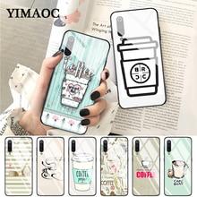 YIMAOC Cute food french fries burger pizza Glass Case for Xiaomi Redmi 4X 6A note 5 6 7 Pro Mi 8 9 Lite A1 A2 F1