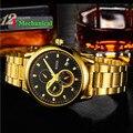 Hot style B1011 moda relógios dos homens, high-end relógios mecânicos ocos fora, moda de luxo relógios, relógio marca de homens de negócios