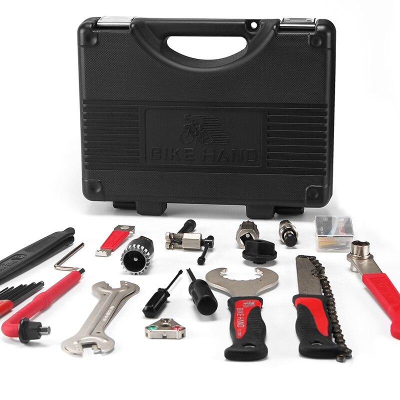 BIKEHAND 18 In 1 Multiful Fiets Gereedschap Kit Draagbare Fiets Reparatie Tool Box Set Inbussleutel Remover Crank Puller fietsen Gereedschap - 6
