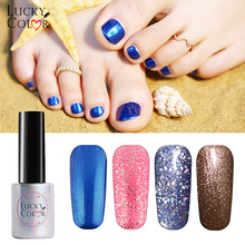 Diamond Nail Polish Glitter Pure Color Effect Long Lasting Nail Art Decoration 1 Bottle/10ML UV LED Soak-Off Glitter Glue