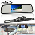 TFT LCD 4.3 Inch Mirror Monitor DVD Display Wireless IR Night Vision Car Rear View Camera Backup Parking Reverse Camera