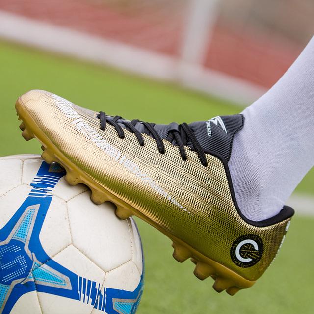 ZHENZU Professional Soccer Cleats Cheap Football Shoes Kids Men krampon futbol orjinal Outdoor Football Boots  Sneakers ayakkabi