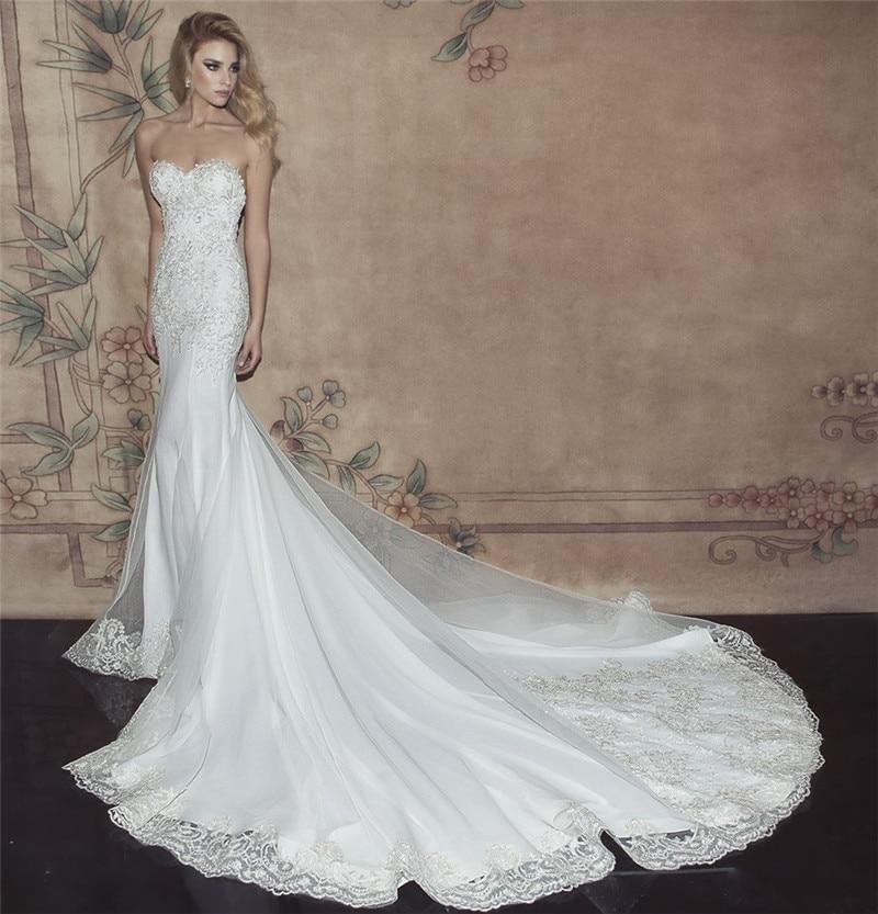Y Sweetheart Mermaid Wedding Dresses 2017 Open Back Long Train Sereia Lace Gowns Off Shoulder Vestido De Noiva Renda In From