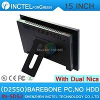 Oem 15インチオールインワンタッチスクリーン小さなサーバpcベアボーンpcでledタッチスクリーンデュアル1000 mbps nic