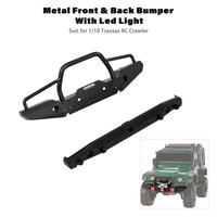 HIINST Metal Front Back Bumper with LED Light and Trailer Hook Kit Made Of High Quality Metal Bumper JAN11
