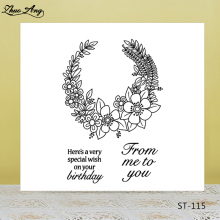 ZhuoAng Special blessing Transparent Clear Silicone Stamp/Seal for DIY scrapbooking/photo album Decorative clear stamp