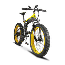 Cyrusher Cruiser Folding Electric Bike XF690 500W 48V 10A electronic Fat tire E Bike Full Suspension 7 Speed electric Bicycle