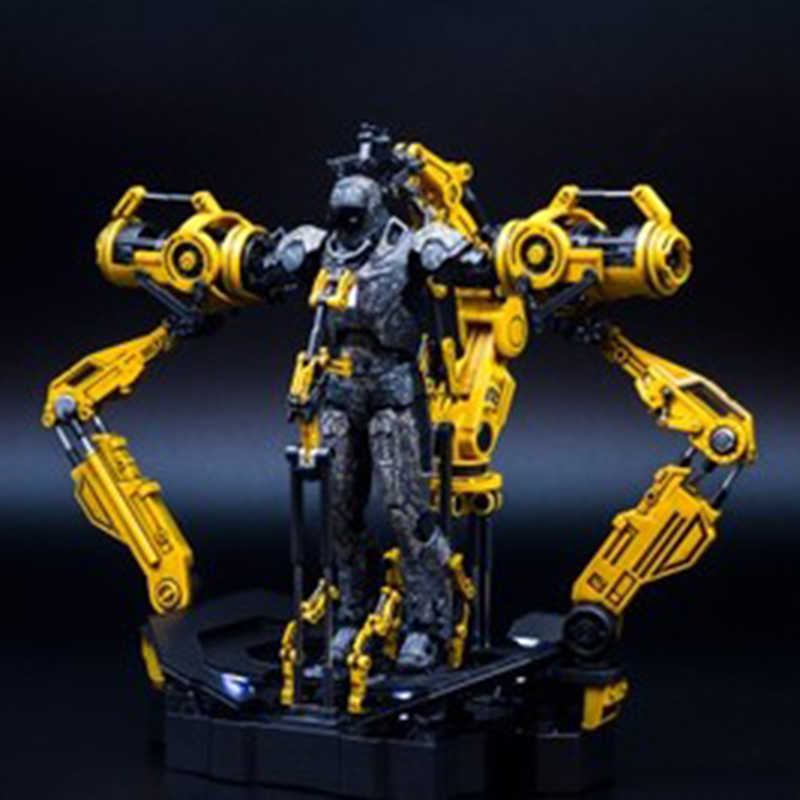 Для 6 дюймов Железный человек 1/12 масштаб костюмная козловая Железный человек Литой Сплав Броня демонтаж станционные игрушки без Железного человека