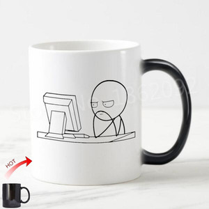 Image 1 - Novelty Meme Computer Guy Coffee Mug Tea Cup Funny Stickman Nerd Gifts for Engineer Programmer IT Coworker Joke Birthday Present