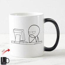 참신 meme 컴퓨터 가이 커피 머그잔 티 컵 재미 있은 stickman 머저리 선물 엔지니어 프로그래머 it coworker joke birthday present