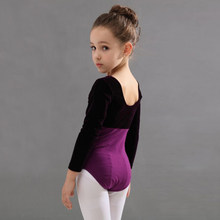 Girls Ballet Bodysuit Long Sleeve Leotard Gymnastics Wear Children Ballet Dancewear Jumpsuits Children Rose Purple Dance Clothes(China)