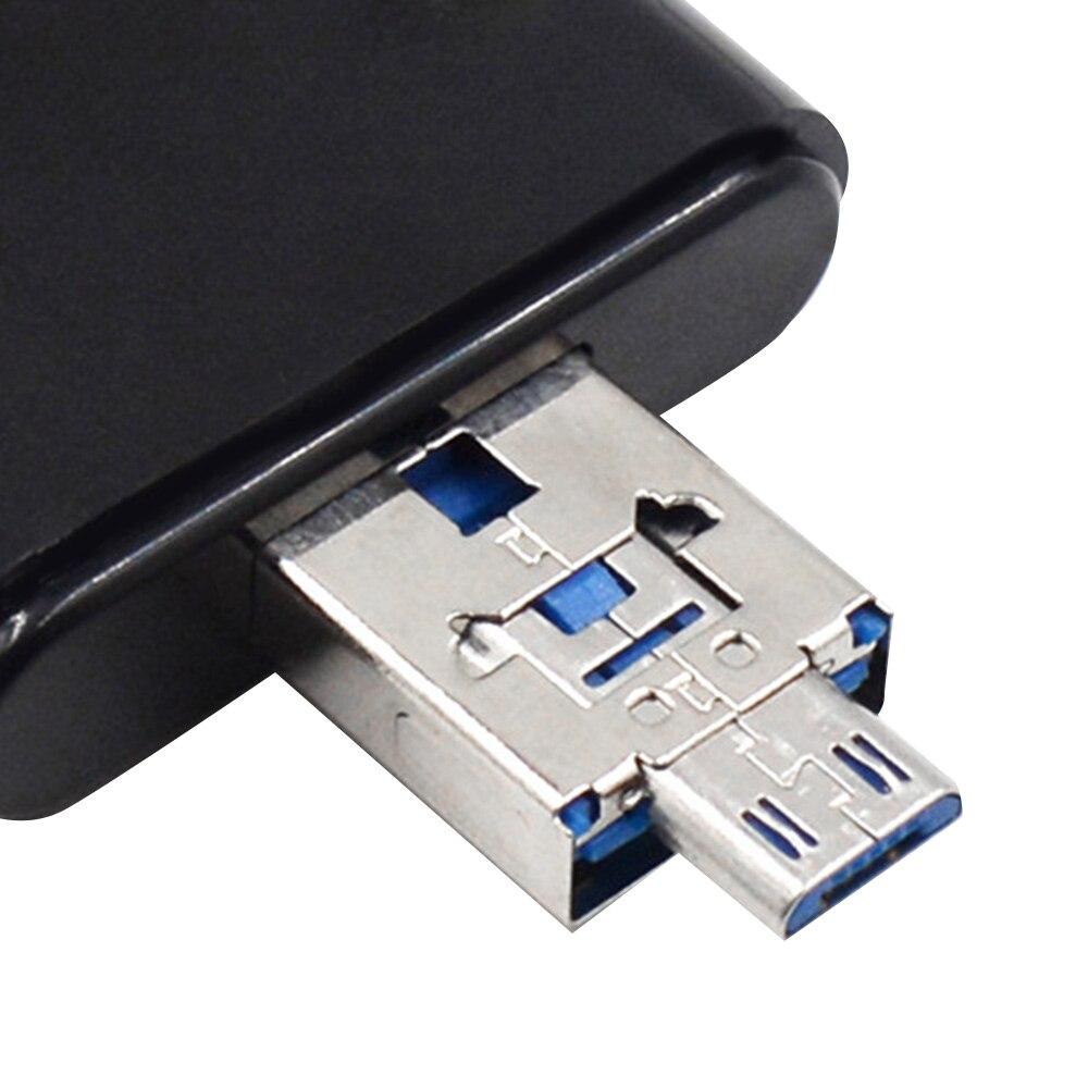 Черный 480 Мбит/с 4In 1 кардридер для OTG TF SD type-c для USB кардридер портативный практичный для HuaWei для Apple компьютера OTG