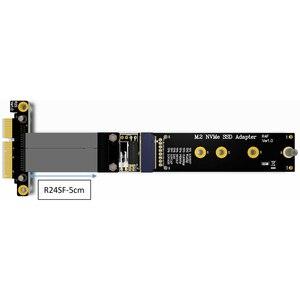 Image 4 - كابل تمديد M.2 لـ NVMe SSD ، بطاقة رفع محرك الأقراص الصلبة ، R44SF/R24SF M2 إلى PCI Express 3.0 X4 PCIE 32G/bps M Key Extender