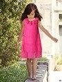 Акции Девушки детские Трехмерные цветы жилет Платье принцесса шелк Бутона Подсолнечное цветок Платья оптом 2017