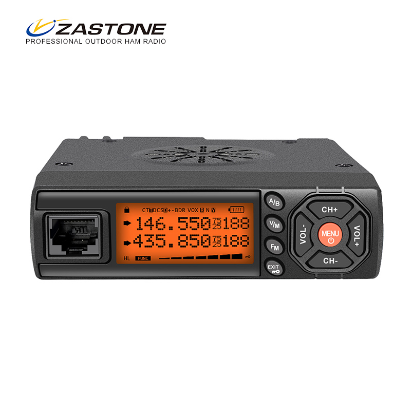 Zastone Z218 Mini Voiture Talkie Walkie 10 KM 25 W Double Bande VHF/UHF 136-174 mhz 400-470 mhz 128CH Mini Mobile Station de Radio Émetteur-Récepteur