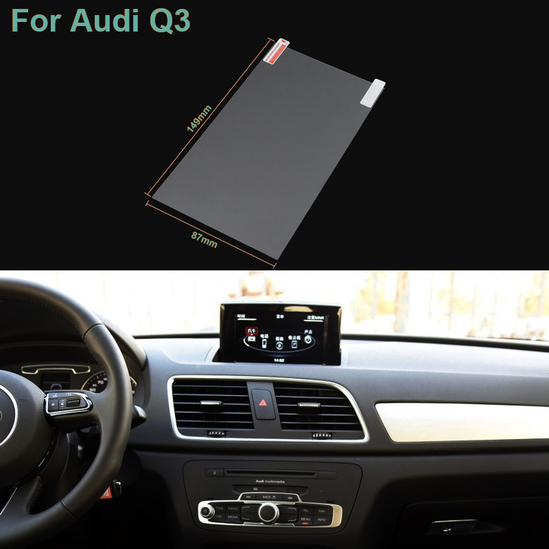 US $3 44 |Hottop 7 Inch GPS Navigation Screen Pet Protective Film For Audi  Q3 Control of LCD Screen Car Sticker-in Interior Mouldings from Automobiles