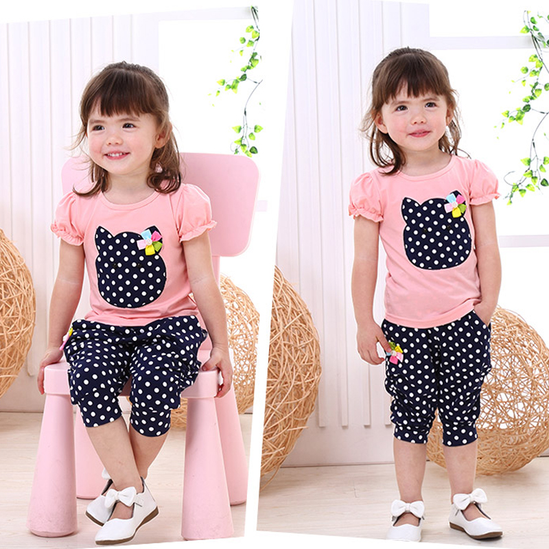 Bibicola Summer time 2019 New Ladies Garments Set Cartoon Cotton Tops++Brief 2 Pcs Clothes Stes Youngsters Ladies Vogue Clothes