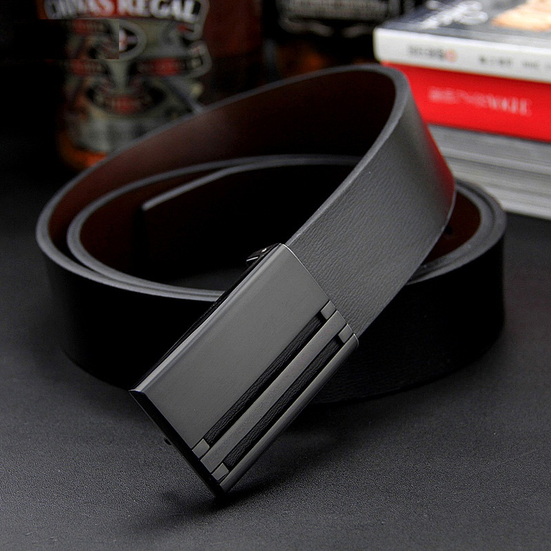 2018 mens genuine leather belt men cowskin belt Groom formal suit trousers belt double metal buckle starp gift for men belts