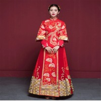2017 XiuHe Take Bridal Gown Wedding Clothes Like Chinese Red Toast Under Show Kimono Existing Dress