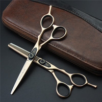 New Arrival Letters Titanium 6 0 Inch High Quality Hairdresser Shear Japan 440c Hair Salon Product