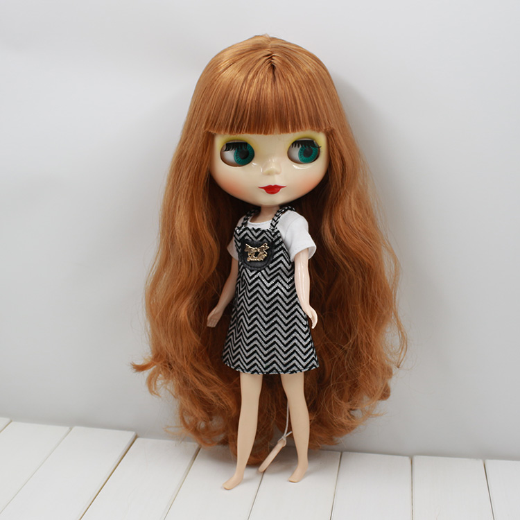 Free shipping Nude Blyth Doll For Series No.280BL01459158 Rubbe Body Brown hair Suitable For DIY Change BJD Toy For Girl цена