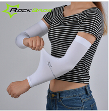 ROCKBROS Summer Mens Womens Arm Sleeves For Sun Protection Cycling Running Fishing Clambing Arms CoolMax UV
