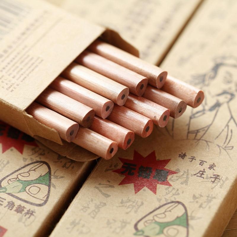 Matite potloden lapices triângulo hb lápis HB de madeira do vintage lapis de escrever de escola escritorio matita desenho bleistift