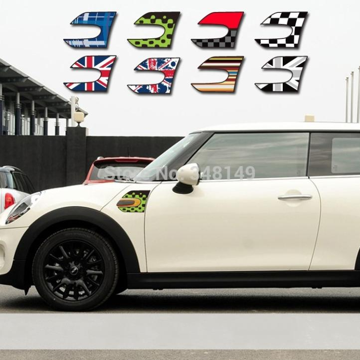 Aliauto 2 x Car-styling Car Stickers Fender Decals Accessories For MINI COOPER F56 aliauto car styling car side door sticker and decals accessories for mini cooper countryman r50 r52 r53 r58 r56