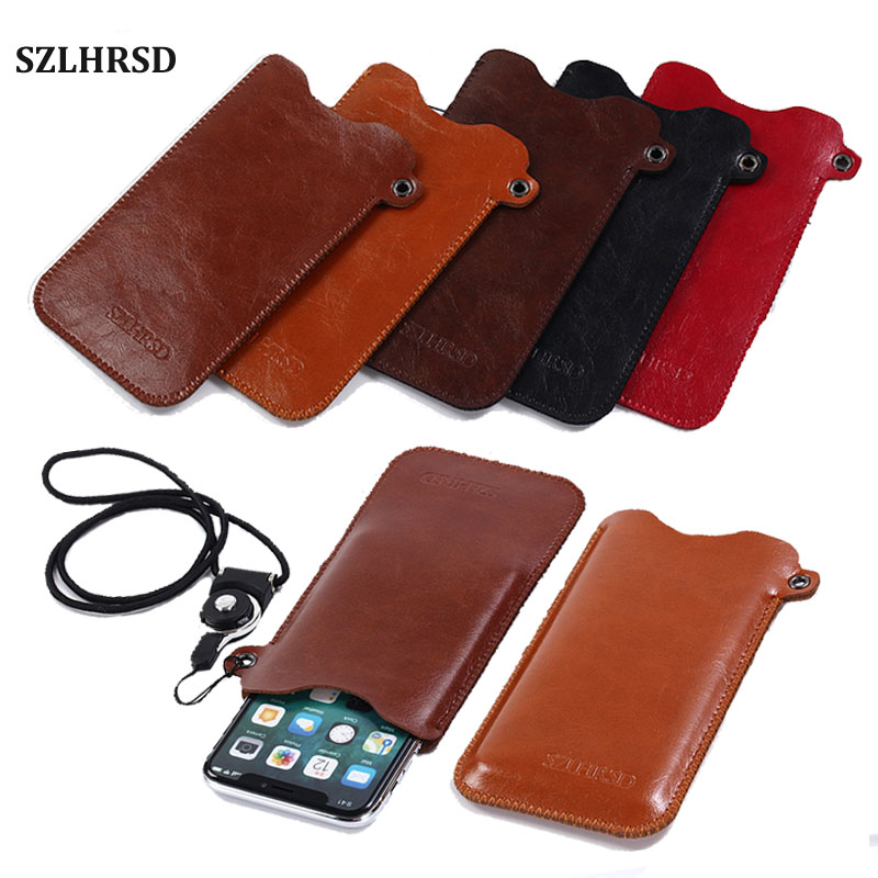 SZLHRSD Mobile Phone Case Hot selling slim sleeve pouch cover + Lanyard ,for Samsung Galaxy Note 8 S7 s6 edge Plus On7 On5 Pro