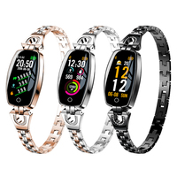 Smart Watch Women Luxury Smart Bracelet Stainless Steel Rhinestone Blood Pressure Turn Light Dynamic Waterproof Sport Watch New