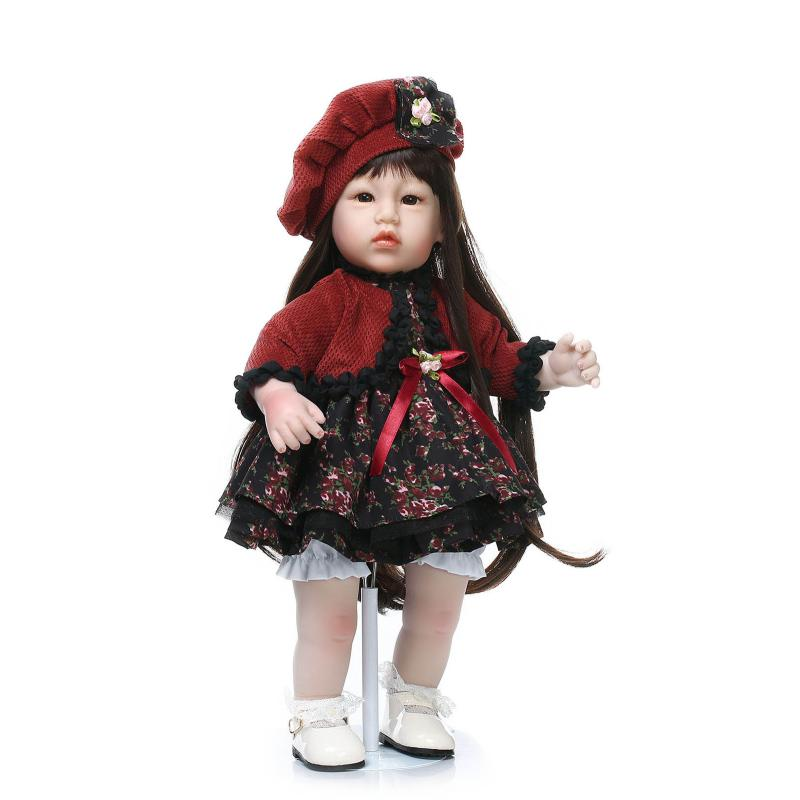50cm Silicone vinyl toddler baby doll for girl lifelike princess doll model photography props kid play house toy birthday gift lifelike american 18 inches girl doll prices toy for children vinyl princess doll toys girl newest design