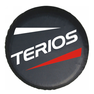 """Image 1 - Cubierta de rueda de repuesto de PVC de 14 """", 15"""" y 16 """", funda protectora para Daihatsu Terios"""