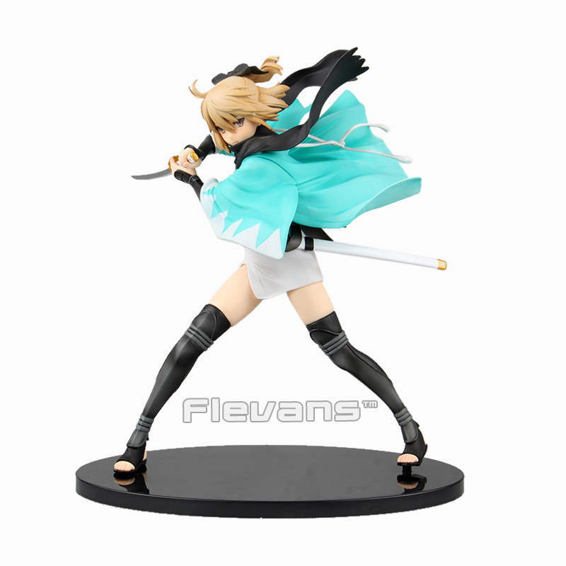Fate Grand Order Sakura Saber Okita Souji 1/7 Scale Painted Figure Collectible Model Toy 23cm